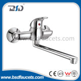 Single d'ottone Lever Exposed Kitchen Faucet con Swivel Spout