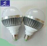 Lumière d'ampoule en aluminium d'E27 9W DEL avec le radiateur