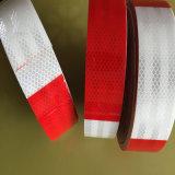 Bande r3fléchissante d'animal familier d'inscription de collant d'avertissement blanc et rouge de qualité