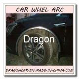 Arco da roda de carro que protege a auto sobrancelha da roda do risco