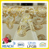 PVC Lace Gold Crochet Tablecloth Round 180cm WeddingかParty Deco。 (JFTB-007B)