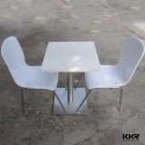 Kingkonree Negro puro Solid Surface Comedor Plaza Tabla