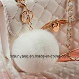 Pompom Keychain della pelliccia del coniglio del Faux di prezzi di fabbrica