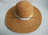 縁浜様式のFloopyの大きいレースのハンドメイドの麦わら帽子