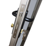 O vidro dobro com grade, pulveriza a porta de alumínio Kz229 do Casement do perfil da ruptura Non-Thermal revestida