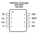 소형 처리기 공급하 전압 관리자 IC의 직접 회로 TPS3705-33D