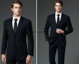 Выполненные на заказ шерсти костюм венчания тонких людей пригонки черный