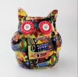 Commercio all'ingrosso di ceramica multicolore della casella di risparmio del gufo