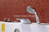 Vasca di bagno acrilica di rettangolo del mulinello popolare della Jacuzzi con il cuscino (TLP-659)
