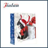 개 & 고양이 4c에 의하여 인쇄되는 크리스마스 선물 패킹 물색 종이 봉지