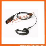 Fone de ouvido da forma de G com o microfone Inline para Motorola Gp328/Gp360/Ht750