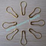 pinos de segurança Shaped chapeados 22mm da pera da cor do metal para o preço (P160721A)
