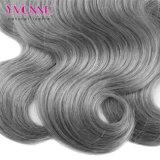 Tessuto grigio brasiliano dei capelli di nuovo modo 2016