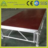 Estágio portátil de alumínio da madeira compensada do desempenho ao ar livre