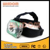 Lâmpada poderosa nova da cabeça da mineração da bateria recarregável, lâmpada de tampão