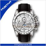 Montre-bracelet imperméable à l'eau Psd-2287 de quartz de montre de mode d'hommes