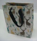 Flocking бумажный мешок для подарков упаковывая с конструкцией способа