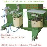 TM-700e Machine van de Druk van het Scherm van de Cilinder van de Fles van het glas de Vlakke