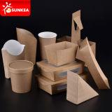 卸し売りカスタムロゴによって印刷される使い捨て可能なファースト・フードの昼食ペーパー包装ボックス