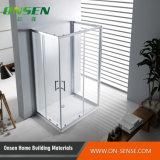 Cabina de la ducha de Frameless de la puerta deslizante del sector uno