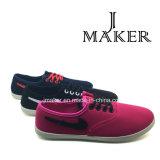 Zapatos de lona planos de las mujeres apuestas (JM2010-L)