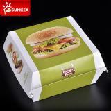 Boîte imprimée par marque à hamburger de bloc supérieur