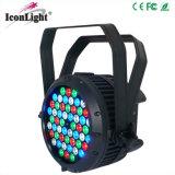 옥외 54X3w RGBW IP65는 LED 동위 빛을 방수 처리한다