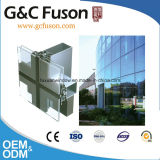 Perfil de aluminio de la pared de cortina de la protuberancia