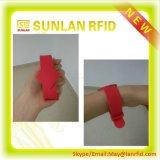 Braceletes médicos do bracelete passivo ajustável barato RFID do Wristband RFID do silicone do plástico NFC