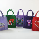 동물 또는 Flower Pattern Felt Tote Bag