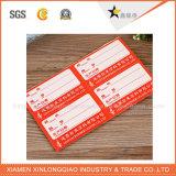 Étiquettes faites sur commande de vente chaudes personnalisées de collant