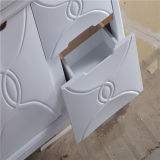 White fissato al muro Bathroom Vanity con Side Cabinet