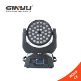 indicatore luminoso mobile della testa 36PCS 12W LED dello zoom di 4in1 LED