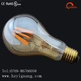 A75 금 유리제 LED 필라멘트 전구