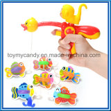 Het Stuk speelgoed van de Spelen van de Nevel van het Water van de Eend & van de Aap van het Beeldverhaal van jonge geitjes en van de Visserij