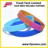 Wristband del silicone dell'OEM di modo con il marchio impresso