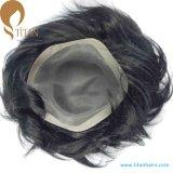130%の男性のための重い密度の人間の毛髪のモノラルToupee