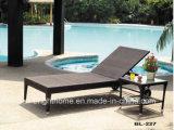 날씨 저항하는 옥외 등나무 고리 버들 세공 알루미늄 접히는 기대는 비치용 의자