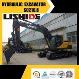 Excavador pesado de la correa eslabonada hidráulica de Sc210.8 Lishide 21ton
