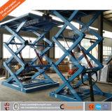 1t estacionários Scissor a plataforma pesada do elevador/elevador hidráulico/superfície de trabalho capacidade carreg a grande