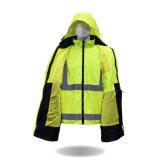 Roupa 100% elevada da segurança do revestimento da visibilidade do algodão da venda por atacado da fábrica do vestuário