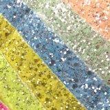 Glitter PU Leather for Kids Shoes Alta confecção Hw-6432