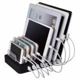 8 стыковка зарядной станции Port заряжателя USB настольный компьютер многофункциональная 19.2A с стойкой для PC таблетки мобильного телефона