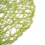 Цветастый естественный материал шнурует Tableware для дома & украшений