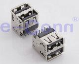 Extremo del PWB del varón de SMT USB2.0/del conector femenino