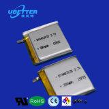 pequeña batería del polímero del litio de 3.7V 380mAh para los productos usables elegantes