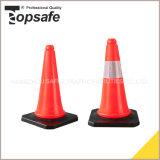 conos anaranjados fluorescentes del tráfico del LDPE de los 50cm (S-1202L)