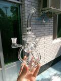 Showerhead 2016 et pipe de fumage en verre de Perc de trois boutons