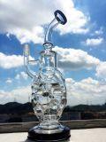 Tubo di fumo di vetro di Hbking del tubo di acqua di mini formato unito degli impianti offshore dell'impianto di perforazione del vapore di Faberge Recyler Klien dell'uovo del cranio 14mm