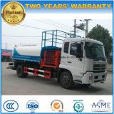 Dongfeng 4X2는 트럭 10000 리터 물 탱크를 가진 상승 플래트홈 트럭을 가위로 자른다